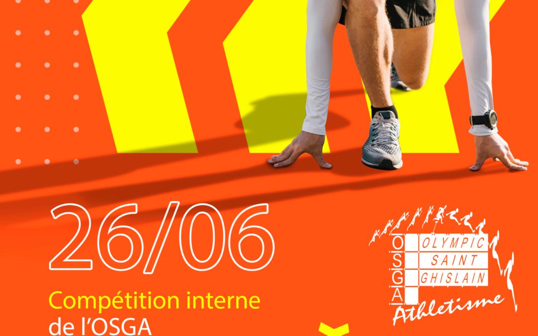 Compétition interne le 26/06 et Kids Athletics le 27/06